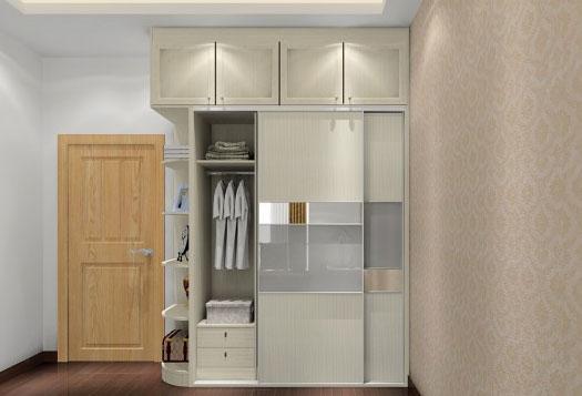 夫妻移门衣柜内部结构图